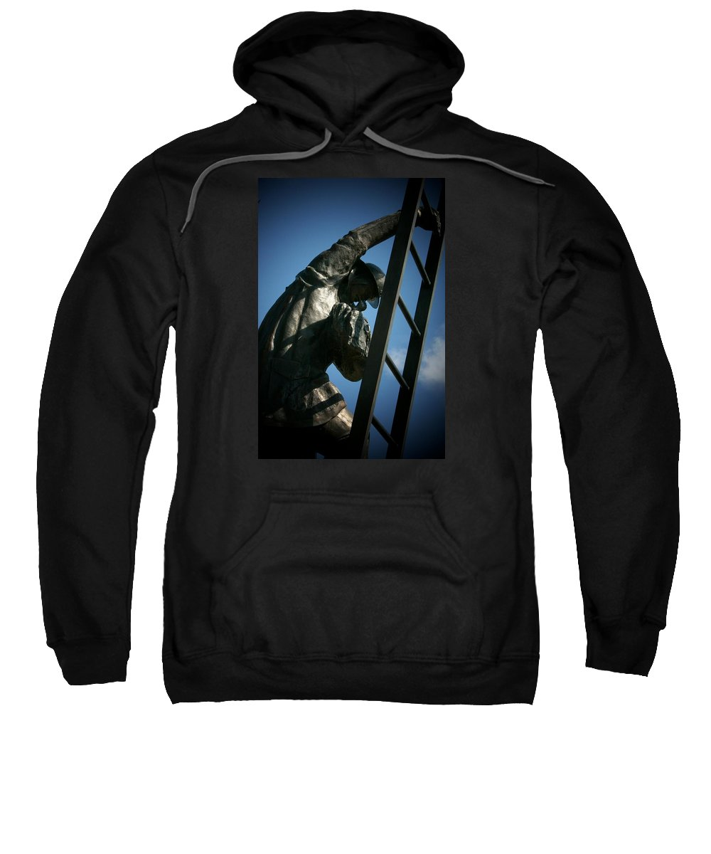 Iaff. Firefighters Sweatshirt featuring the photograph Iaff Fallen Firefighters Memorial 2 by Susan McMenamin