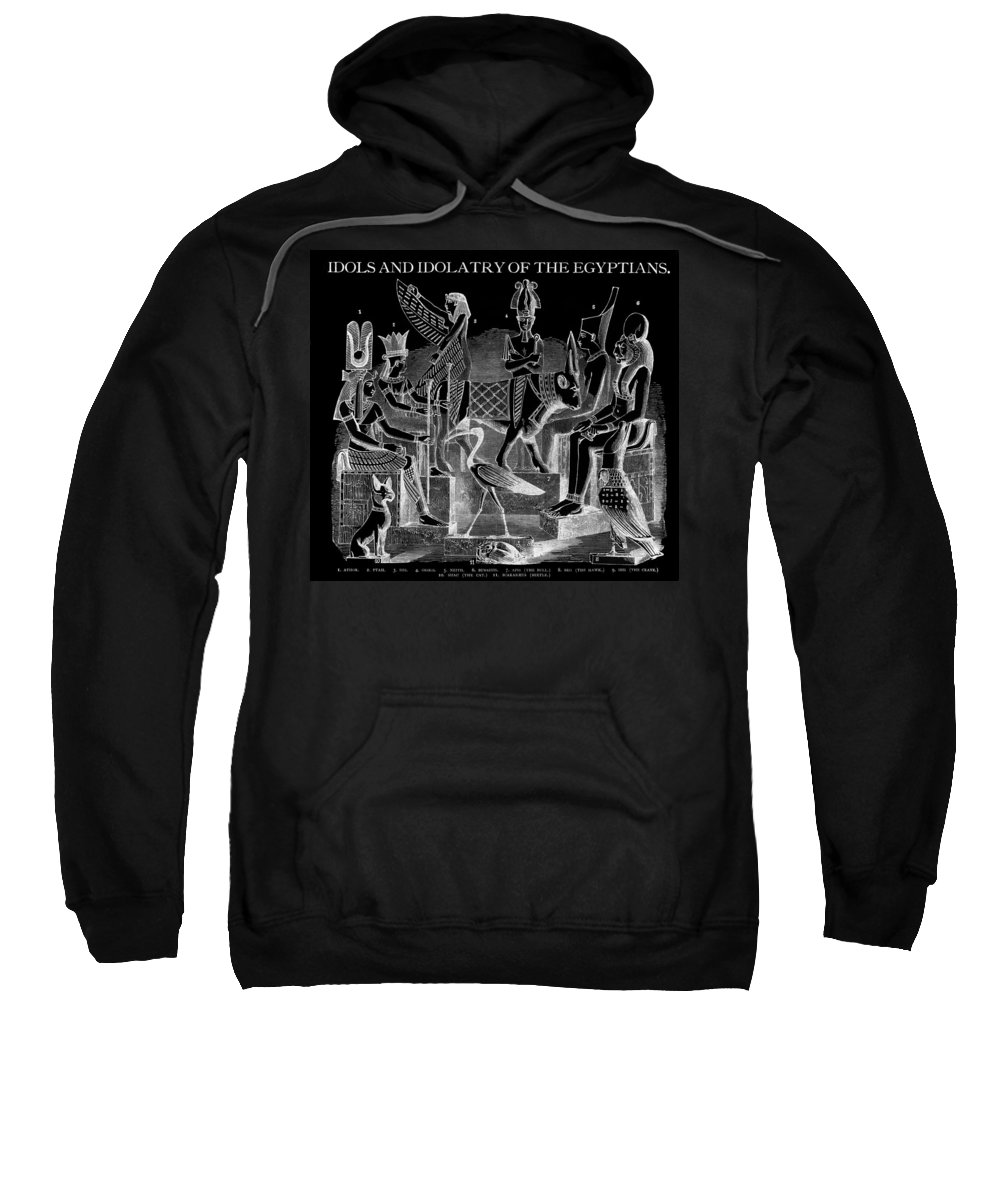 Egypt Sweatshirt featuring the digital art Idols Of Egypt by Daniel Hagerman