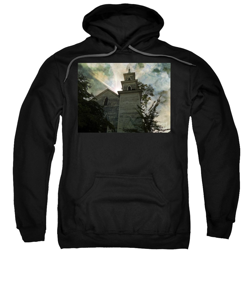 Abandoned Sweatshirt featuring the photograph Illusions by Kelley Freel-Ebner