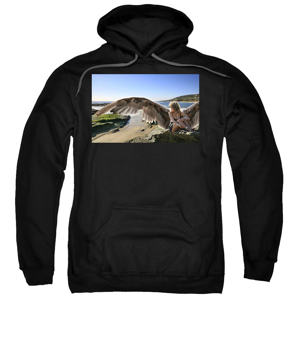 Angel Sweatshirt featuring the photograph I'm A Witness To Your Life by Acropolis De Versailles