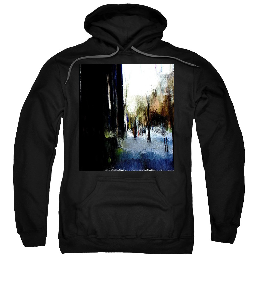 Sweatshirt featuring the mixed media Impending Gloom by Terence Morrissey