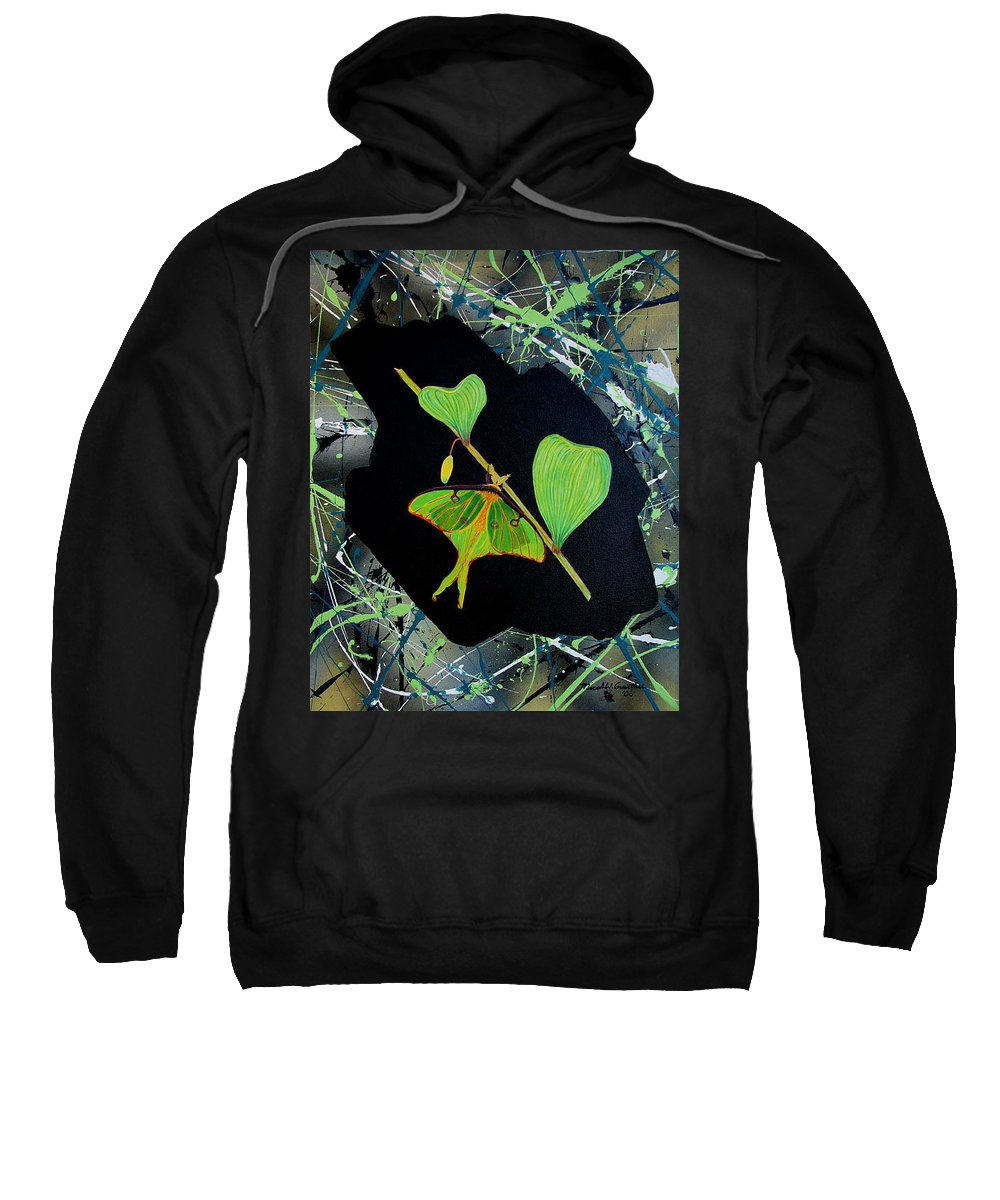 Abstract Sweatshirt featuring the painting Imperfect III by Micah Guenther