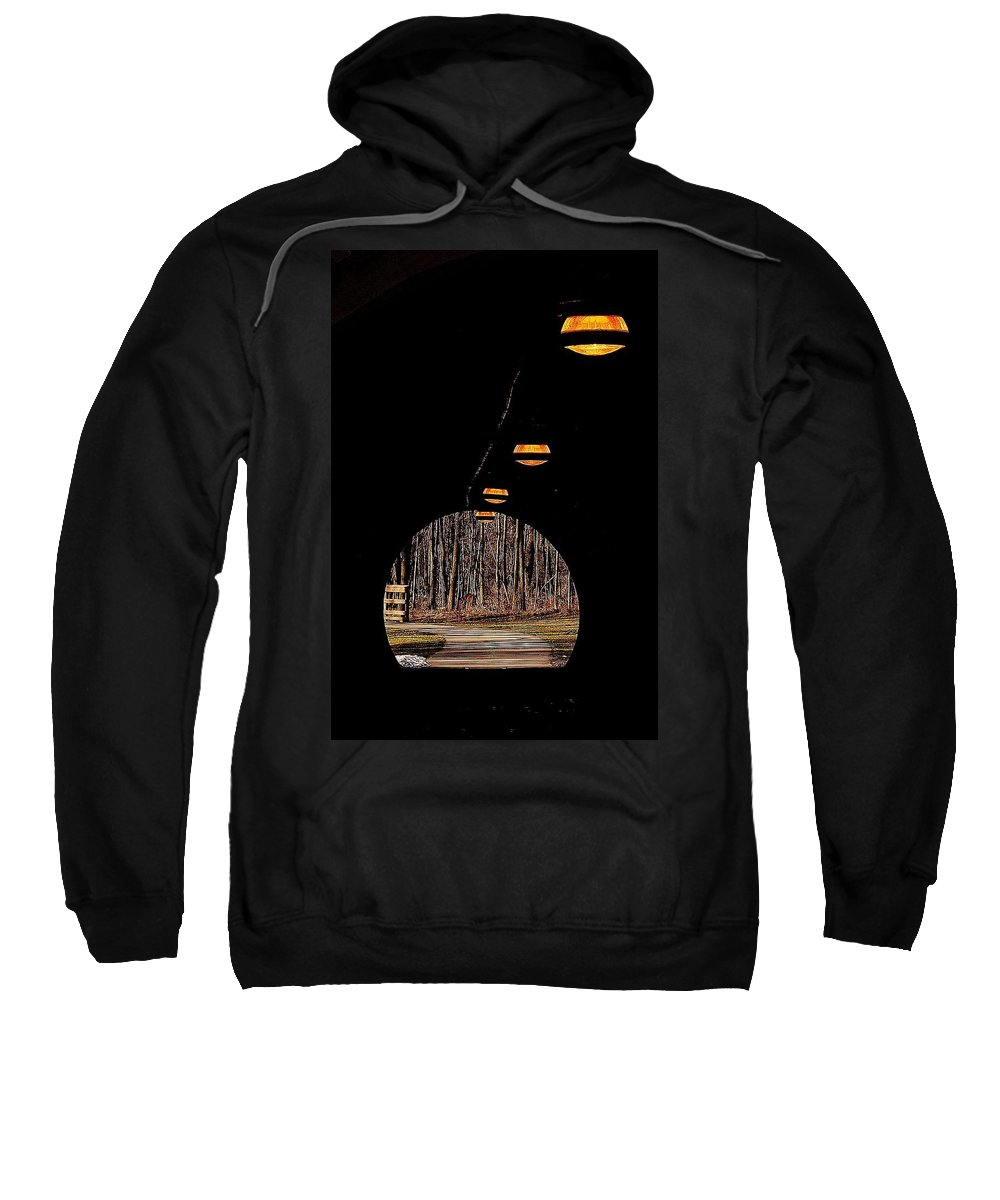 Tunnel Sweatshirt featuring the photograph In Deep Thought by Frozen in Time Fine Art Photography