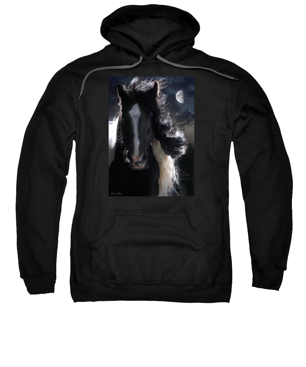 Horses Sweatshirt featuring the photograph In Dreams... by Fran J Scott