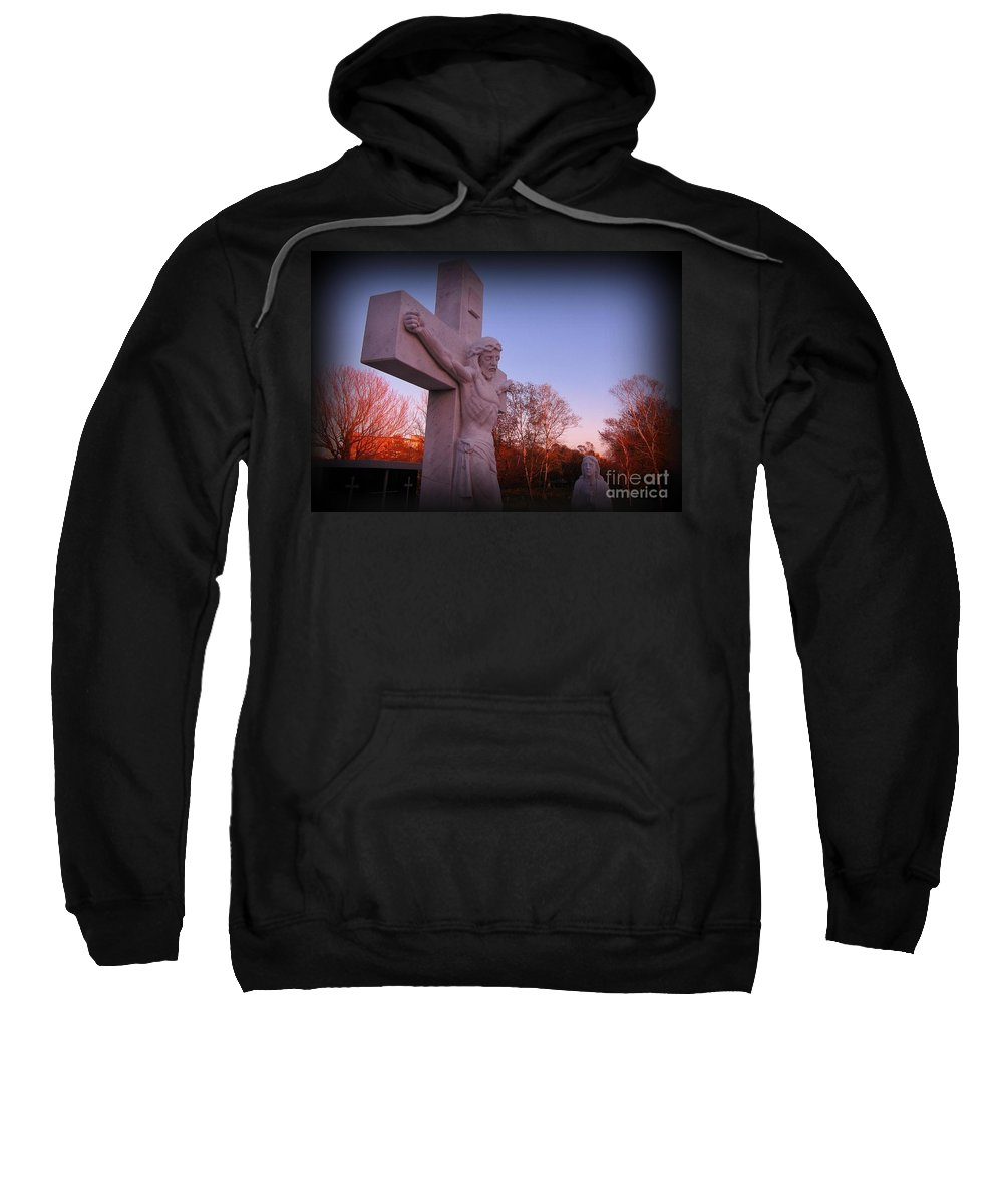 In Sacrifice Is Peace Sweatshirt featuring the photograph In Sacrifice Is Peace by John Malone