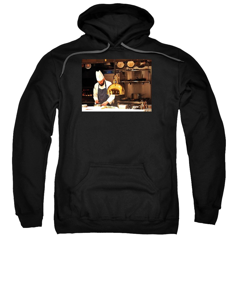 Restaurant Sweatshirt featuring the photograph In The Kitchen by William Morgan