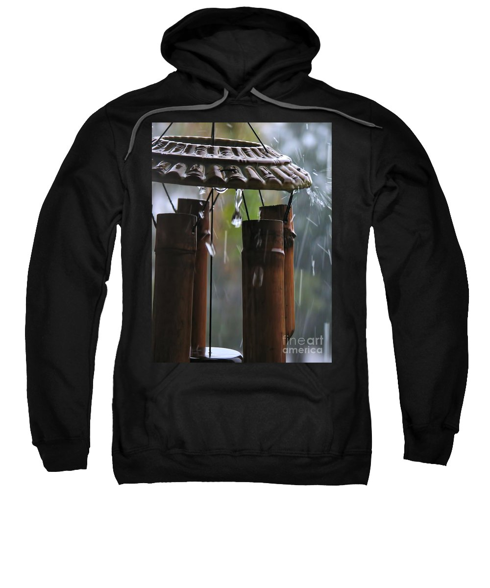 Wind Sweatshirt featuring the photograph In The Rain by Peggy Hughes