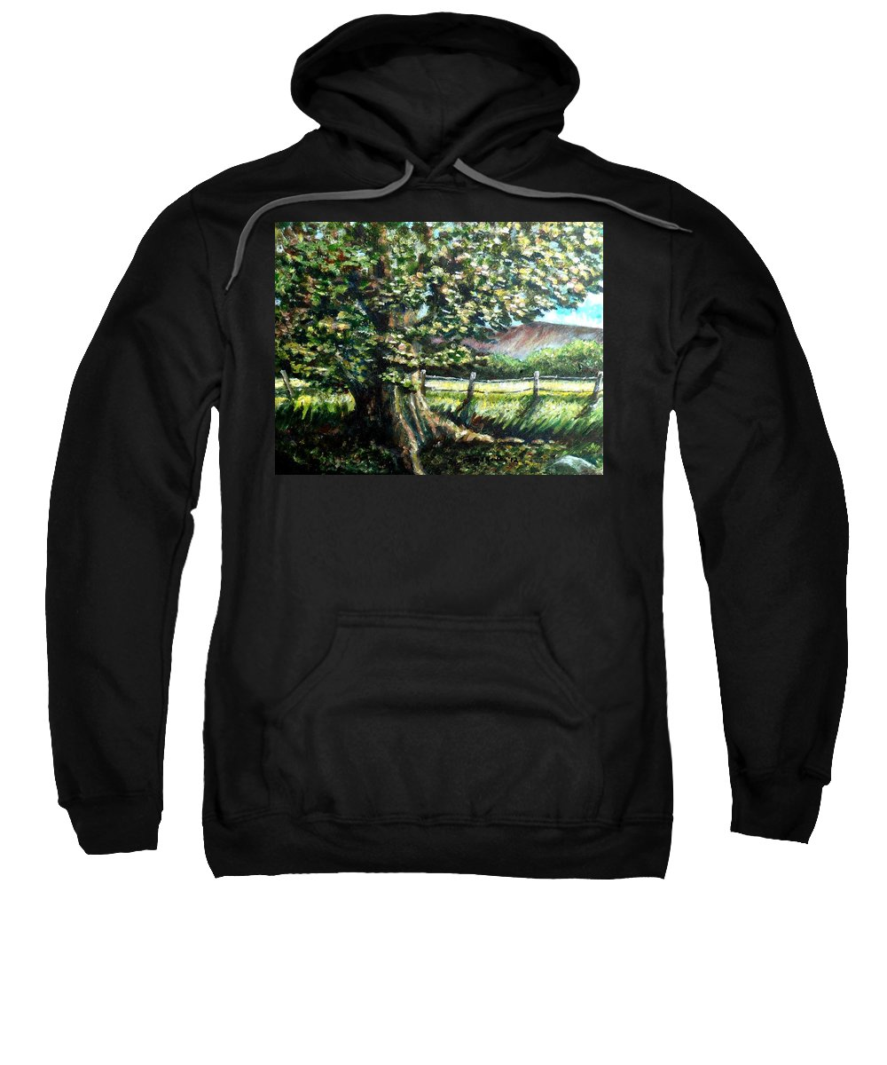 Tree Sweatshirt featuring the painting In The Shade by Shana Rowe Jackson