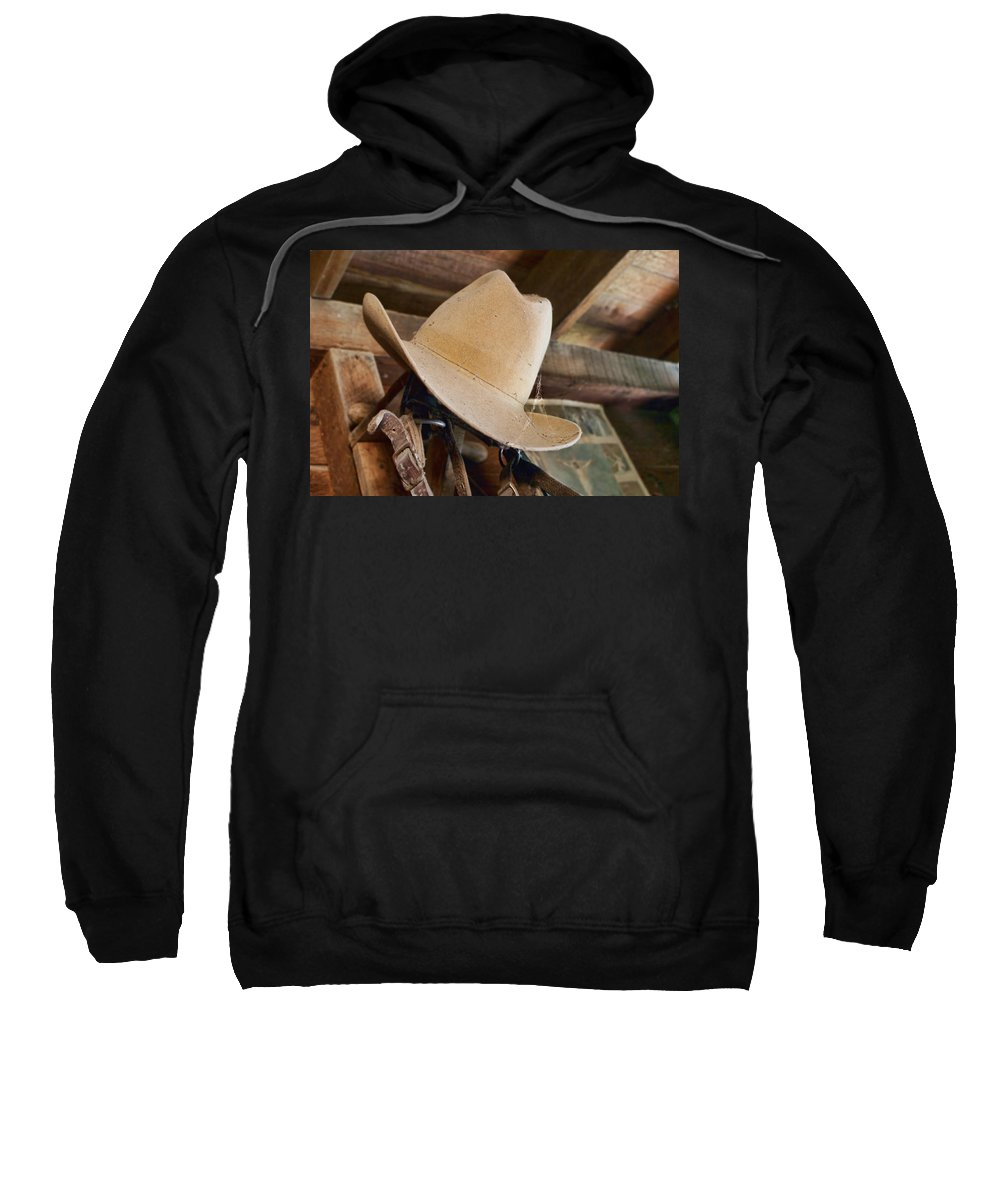 Hats Sweatshirt featuring the photograph In The Shed #1 by Nikolyn McDonald
