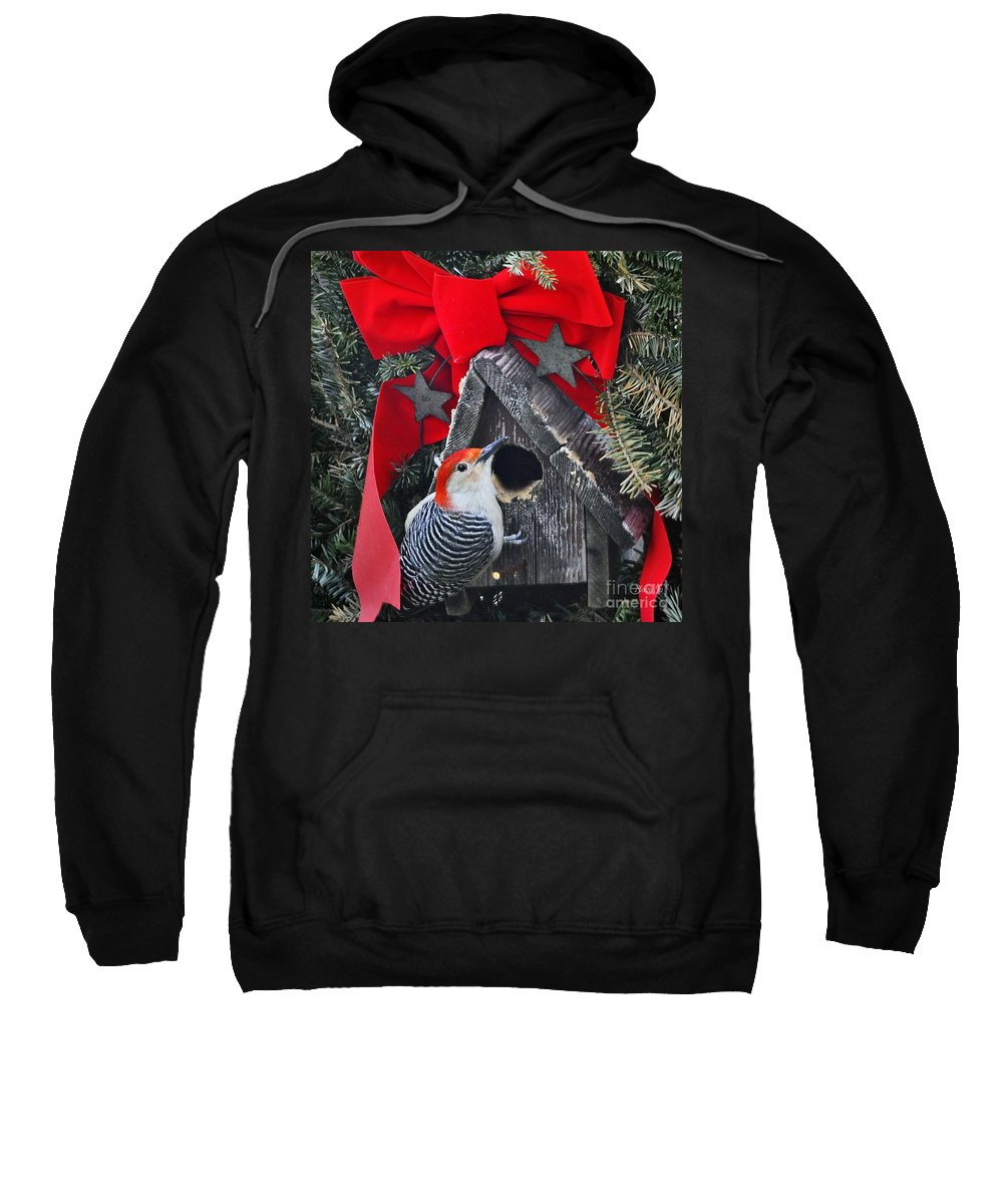 Nature Sweatshirt featuring the photograph In Time For Christmas by Nava Thompson