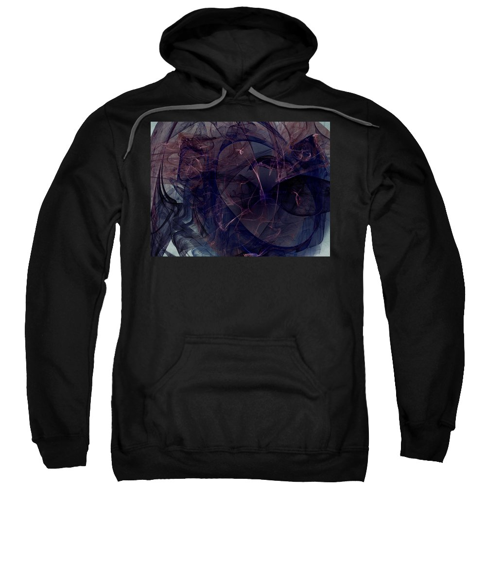 Abstract Sweatshirt featuring the digital art Industrial Genetic Engineering by Jeff Iverson