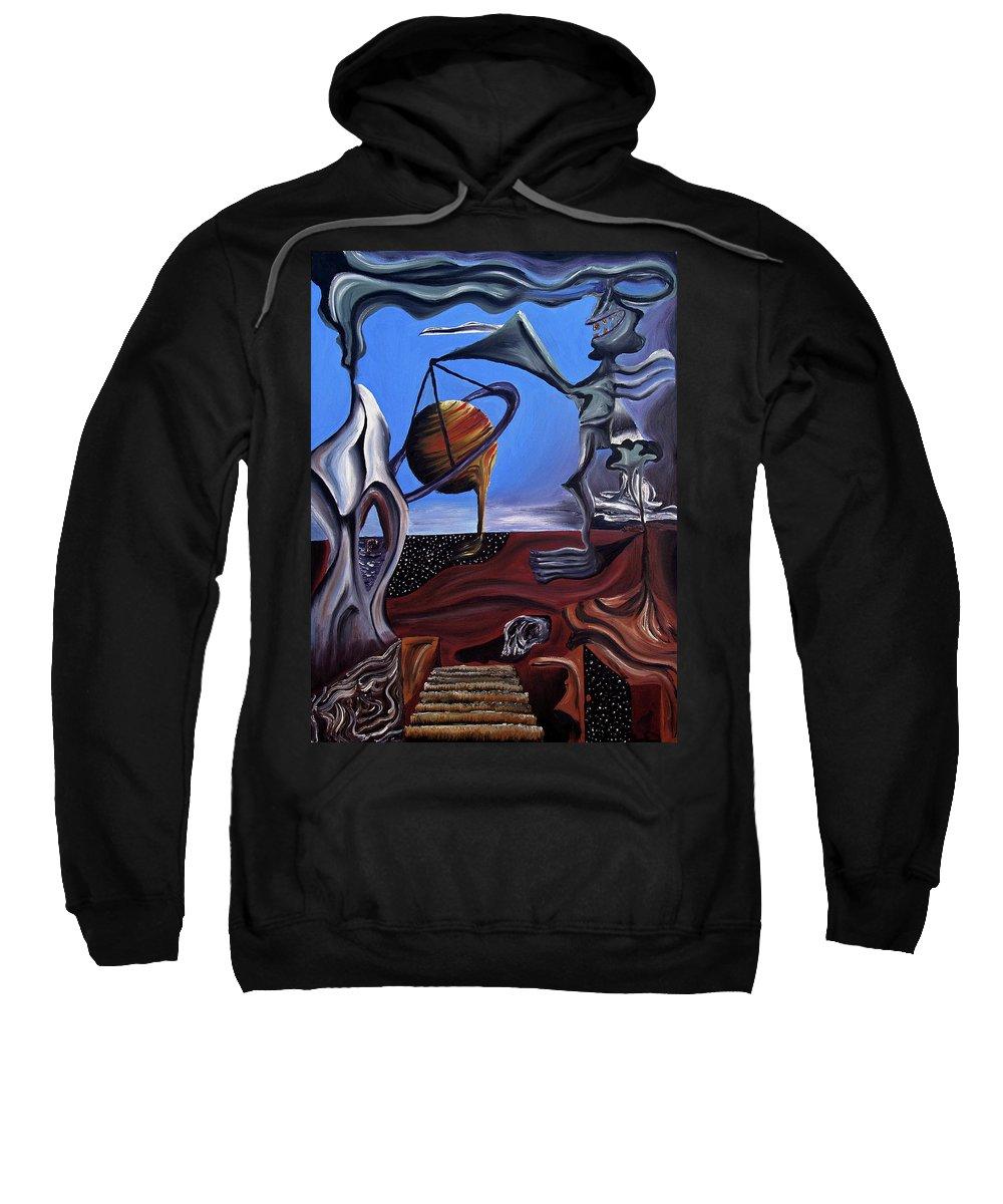 Abstract Sweatshirt featuring the painting Infatuasilaphrene by Ryan Demaree