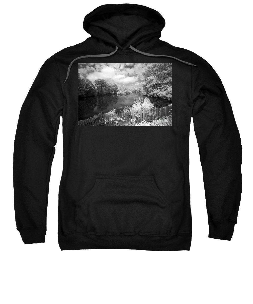 Infrared Sweatshirt featuring the photograph Infrared Mill Pond by Paul W Faust - Impressions of Light