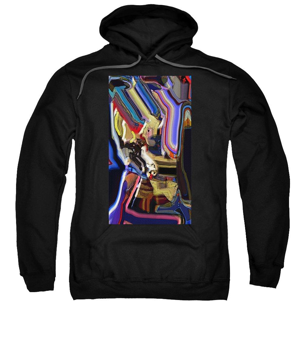 Abstract Sweatshirt featuring the digital art Inner Sanctum by Ian MacDonald