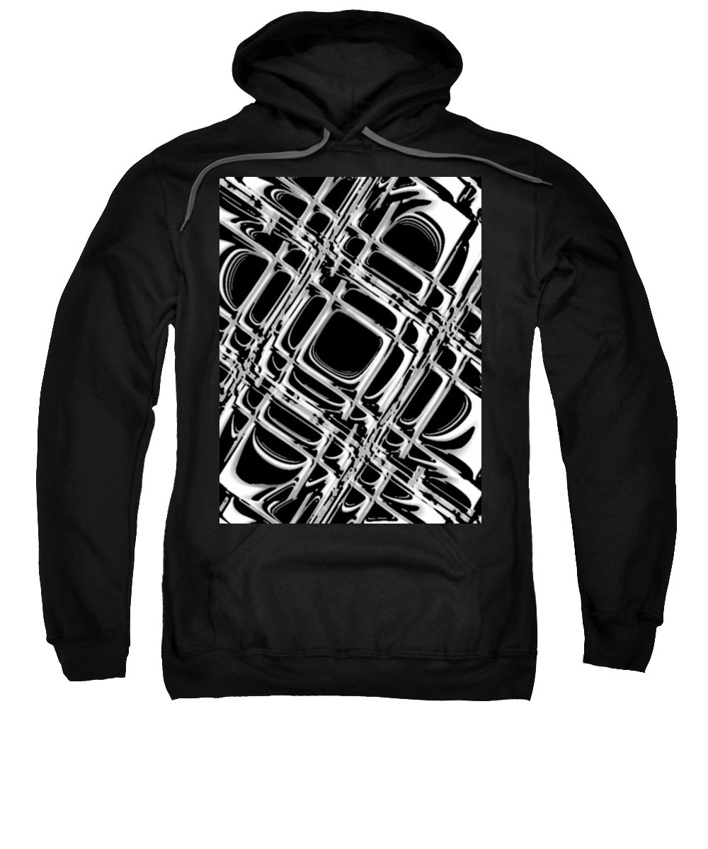 Black And White Sweatshirt featuring the digital art Inner Workings by Pharris Art