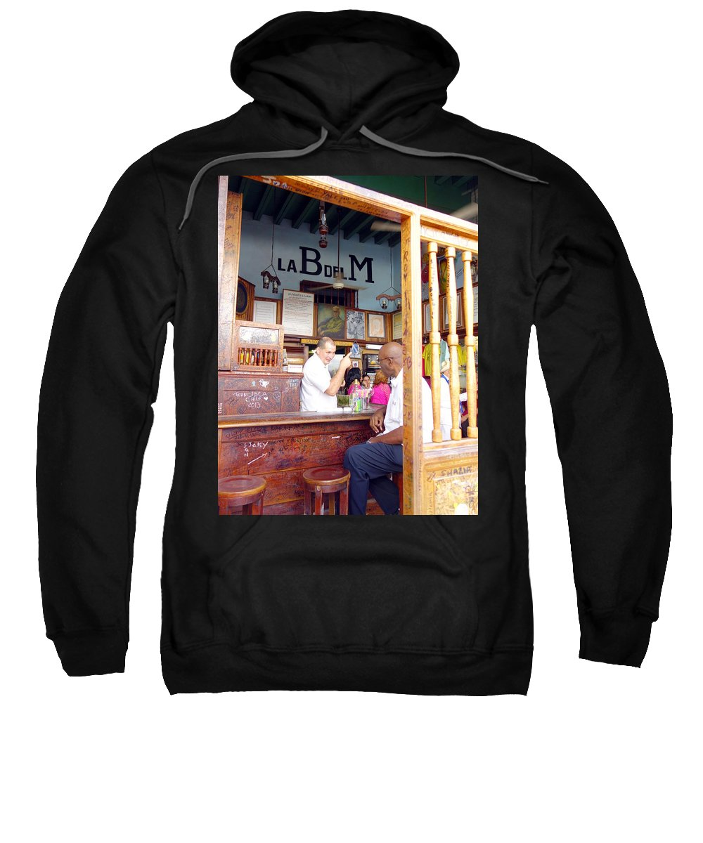 La Bodeguita Del Medio Sweatshirt featuring the photograph Inside La Bodeguita Del Medio by Valentino Visentini