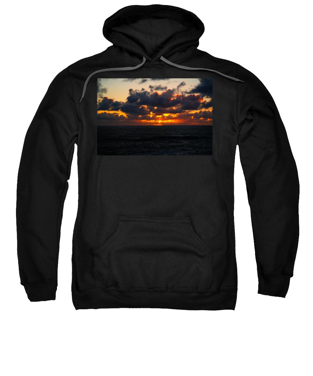 Ocean Sweatshirt featuring the photograph Inspiration by Jeff Swan