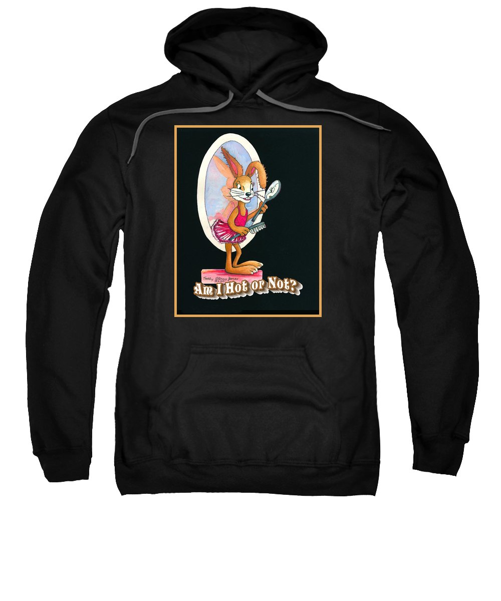 Rabbit Sweatshirt featuring the painting Inspired By Trudy Healy by Sally Storey Jones