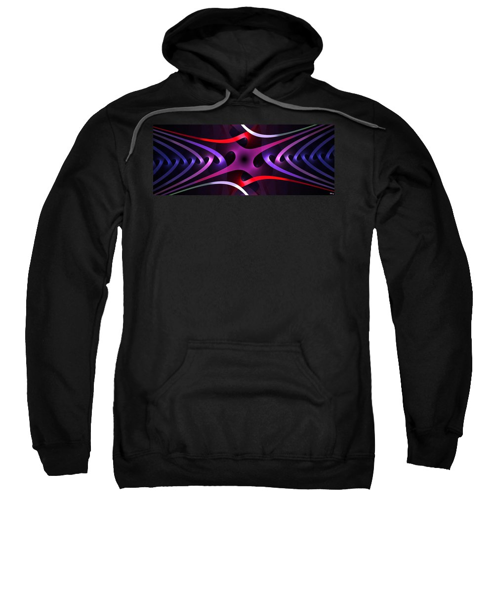 Inter Sweatshirt featuring the digital art Interleaving by Brian Kenney