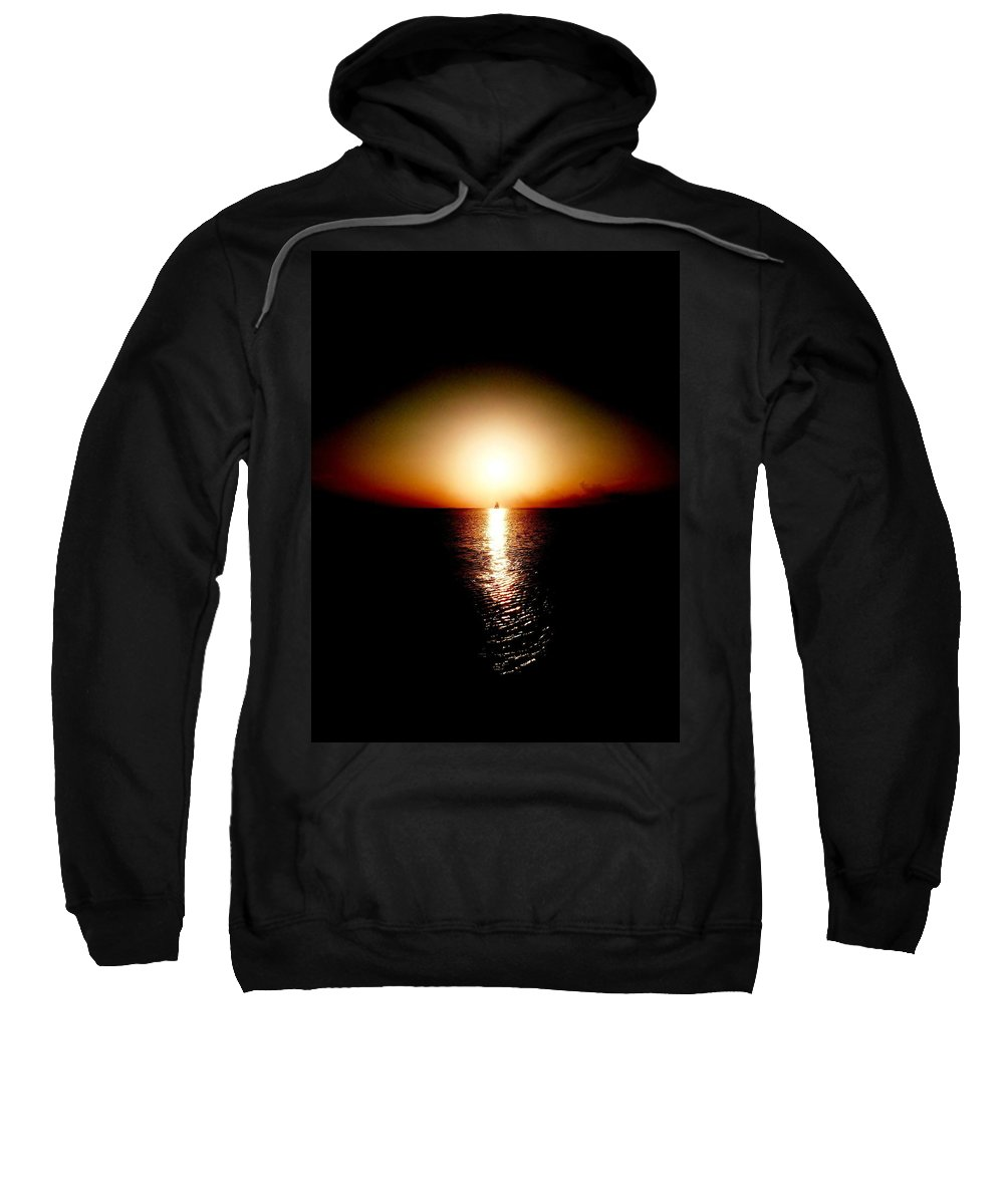 Color Sweatshirt featuring the photograph Into Sunset by Amar Sheow