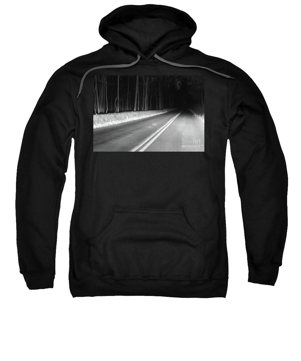 Black And White Sweatshirt featuring the photograph Into The Darkness by Karol Livote