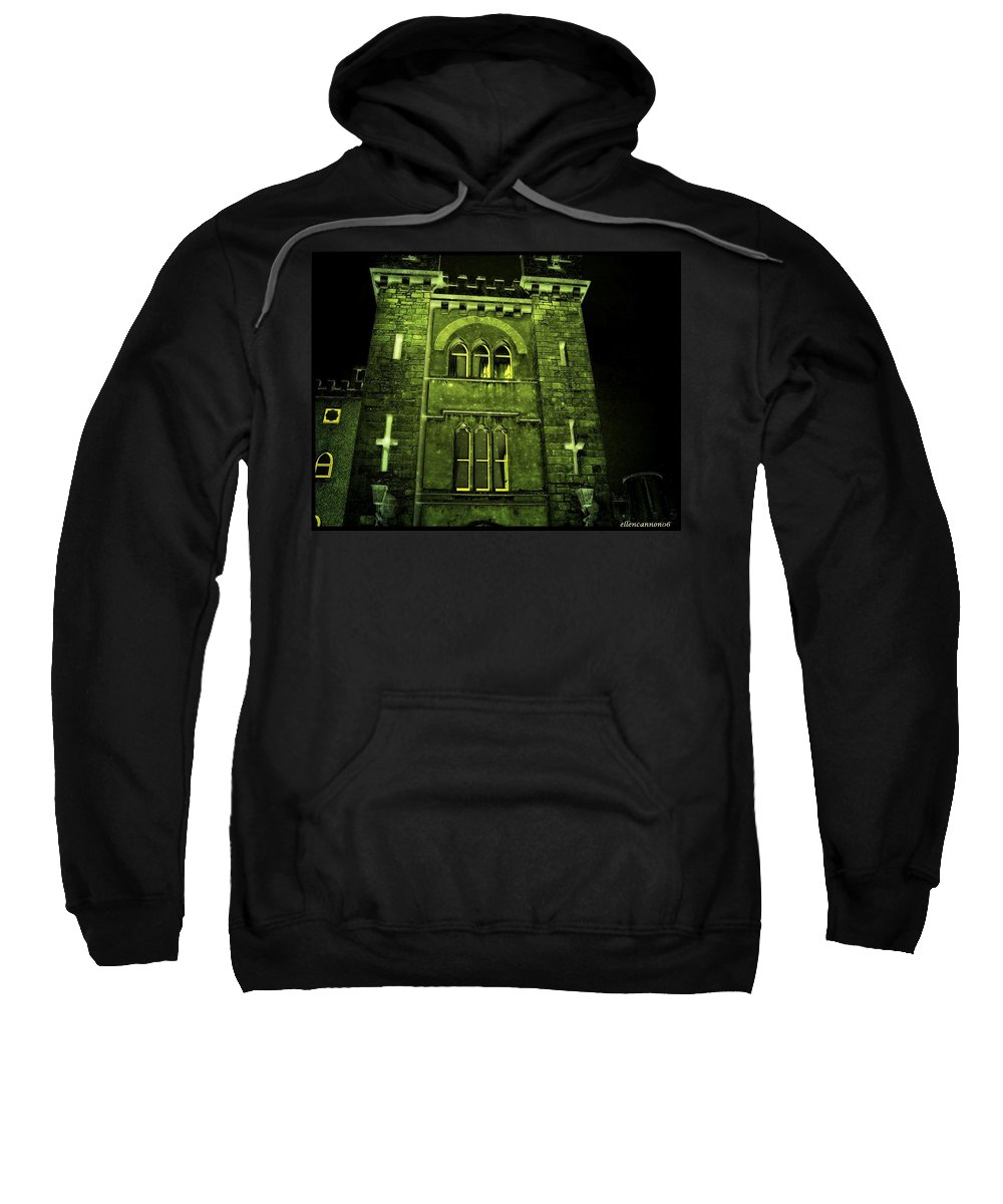 Ireland Sweatshirt featuring the photograph Ireland Church IIi Emerald Night by Ellen Cannon