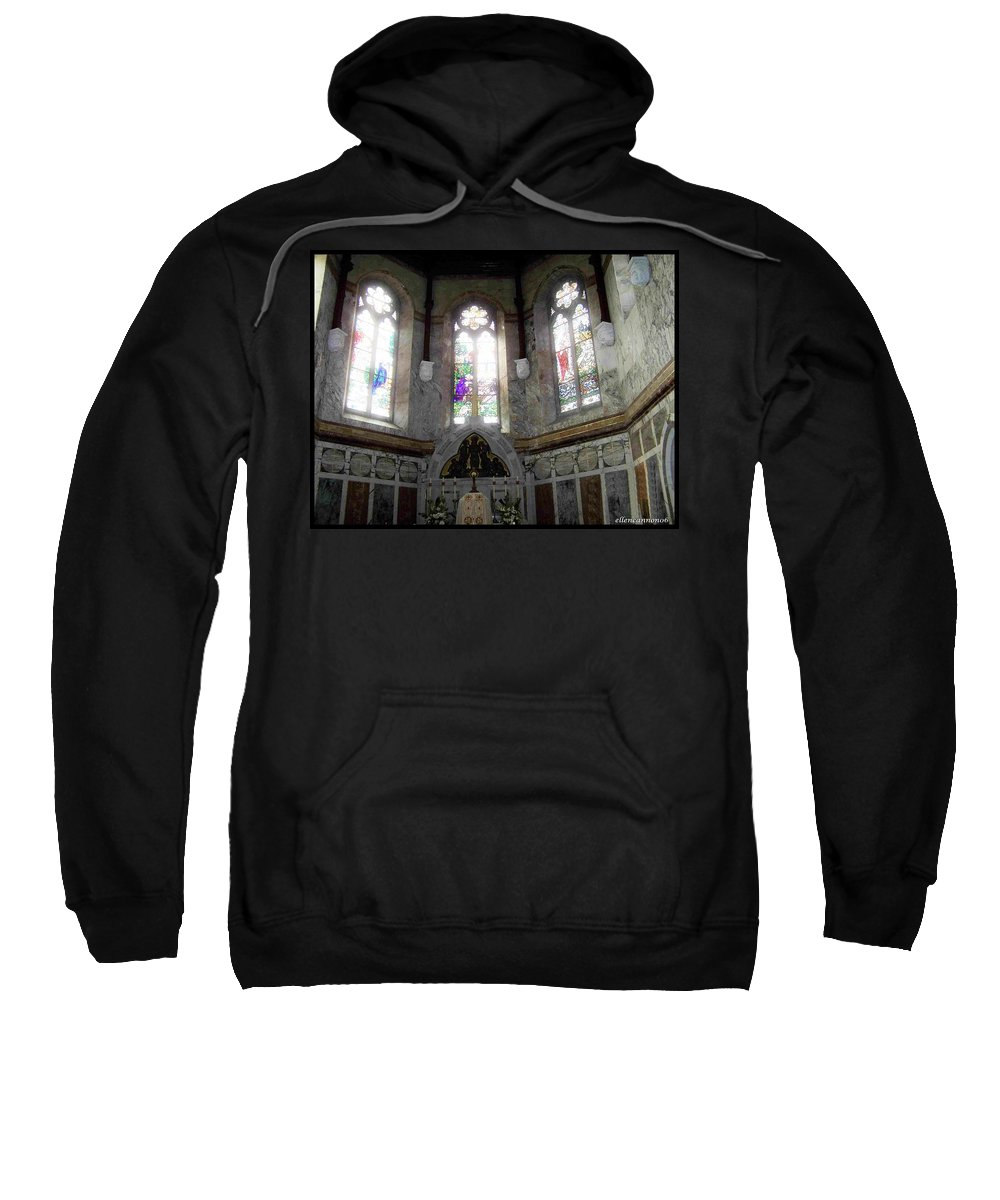 Ireland Sweatshirt featuring the photograph Ireland St. Brendan's Cathedral Stained Glass by Ellen Cannon