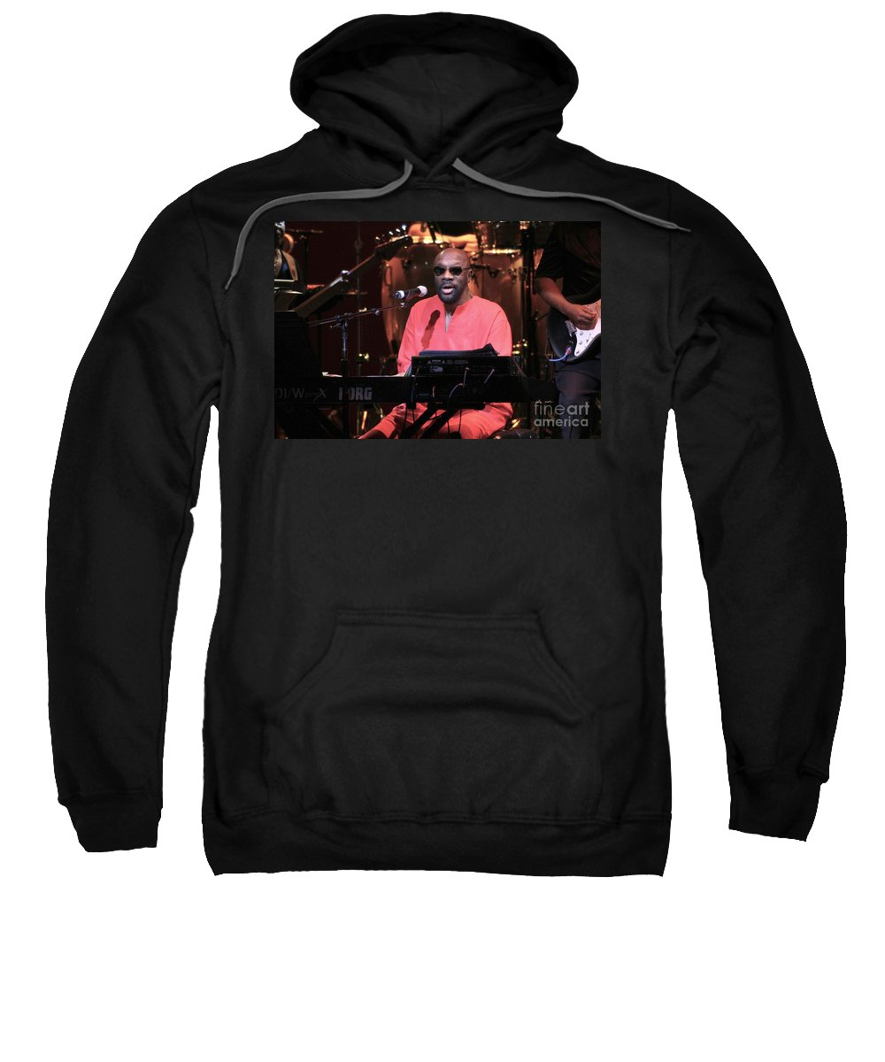 Actor Sweatshirt featuring the photograph Isaac Hayes by Concert Photos
