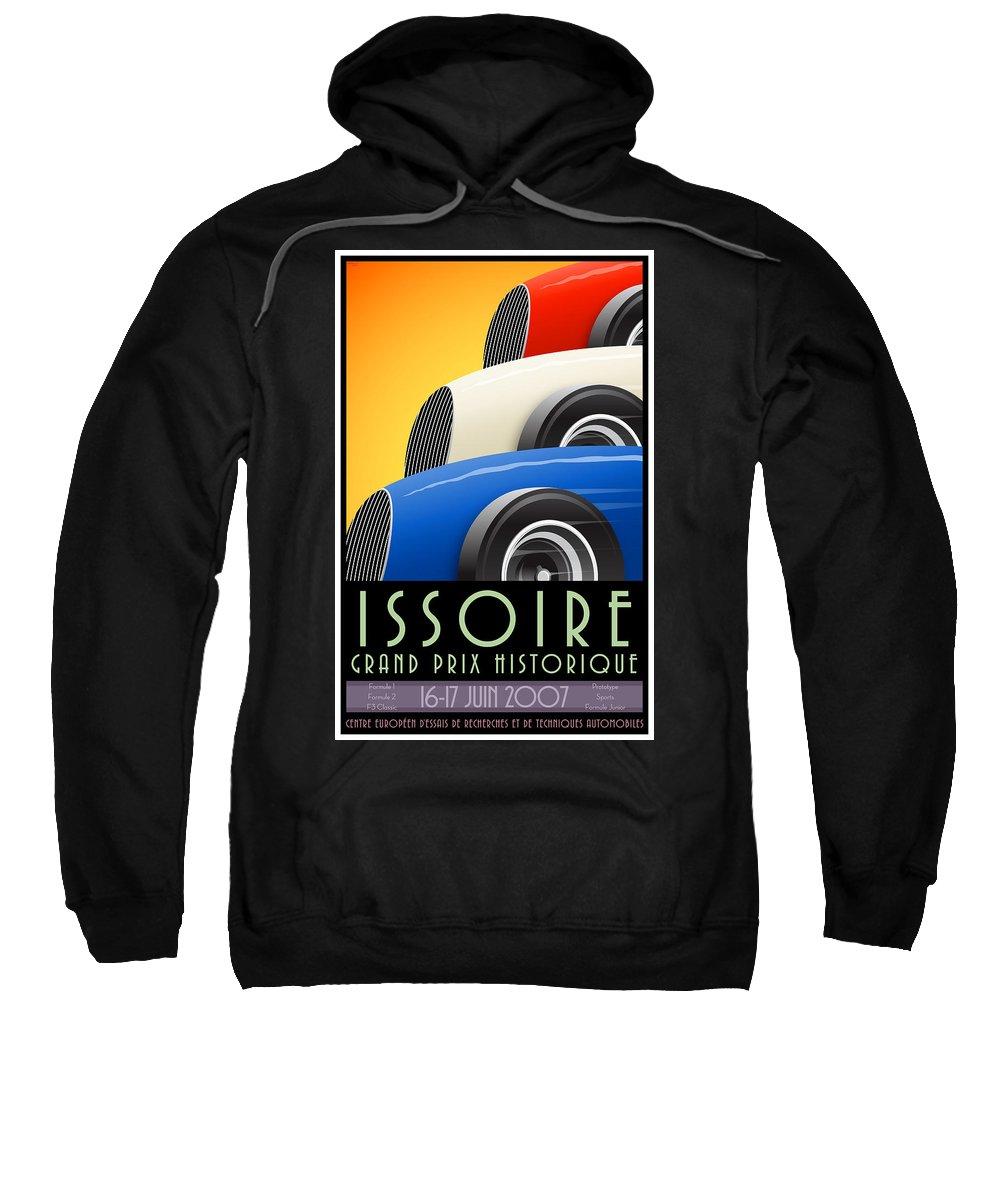 Issoire Sweatshirt featuring the digital art Issoire France Grand Prix Historique by Georgia Fowler