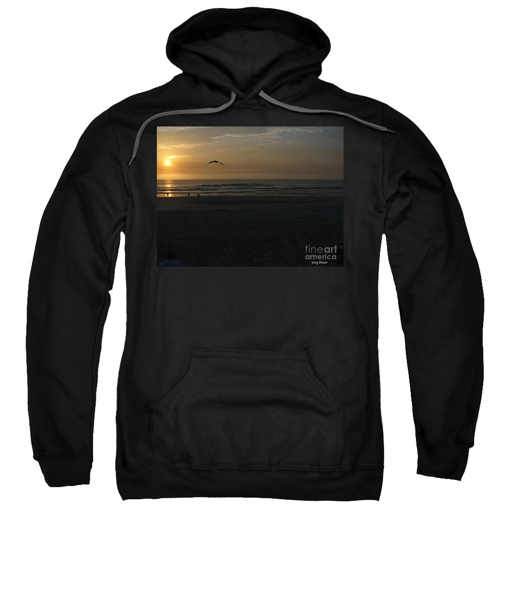 Florida Sunrise Sweatshirt featuring the photograph It Starts by Greg Patzer