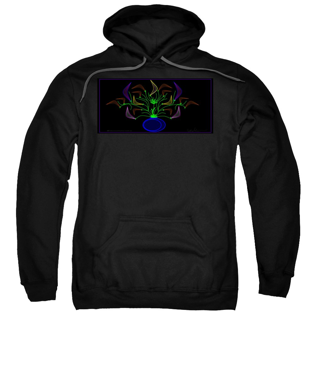 Landscape Sweatshirt featuring the painting Jais' Koddy Leaf by Cynthia Johnson