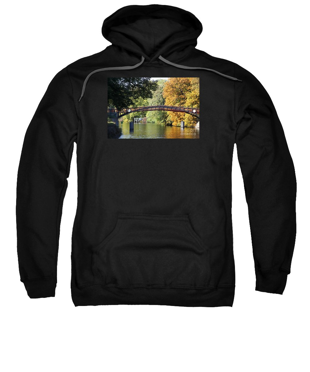 Japanese Bridge Sweatshirt featuring the photograph Japanese Bridge by Christiane Schulze Art And Photography