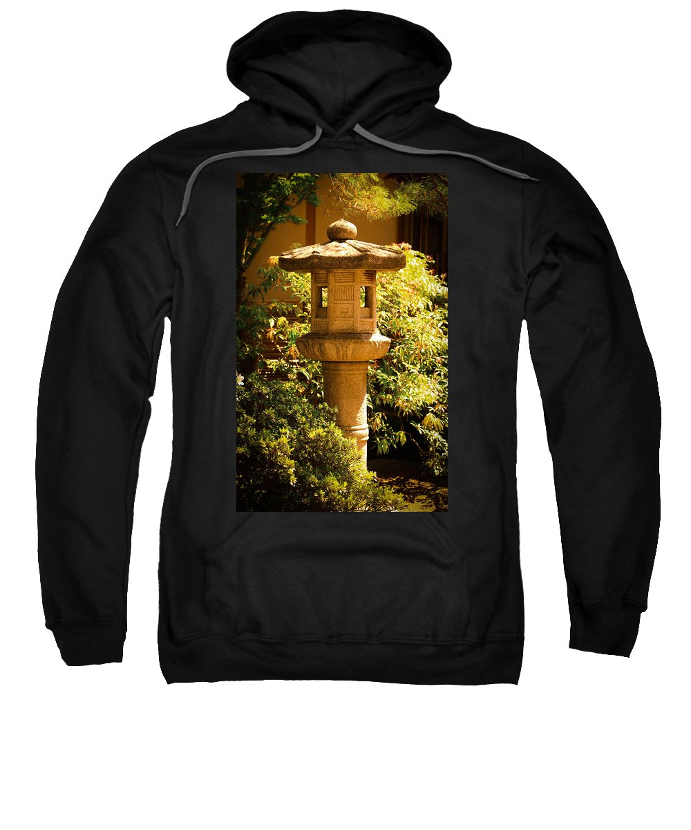 Japanese Statue Sweatshirt featuring the photograph Oriental Lantern by Athena Mckinzie