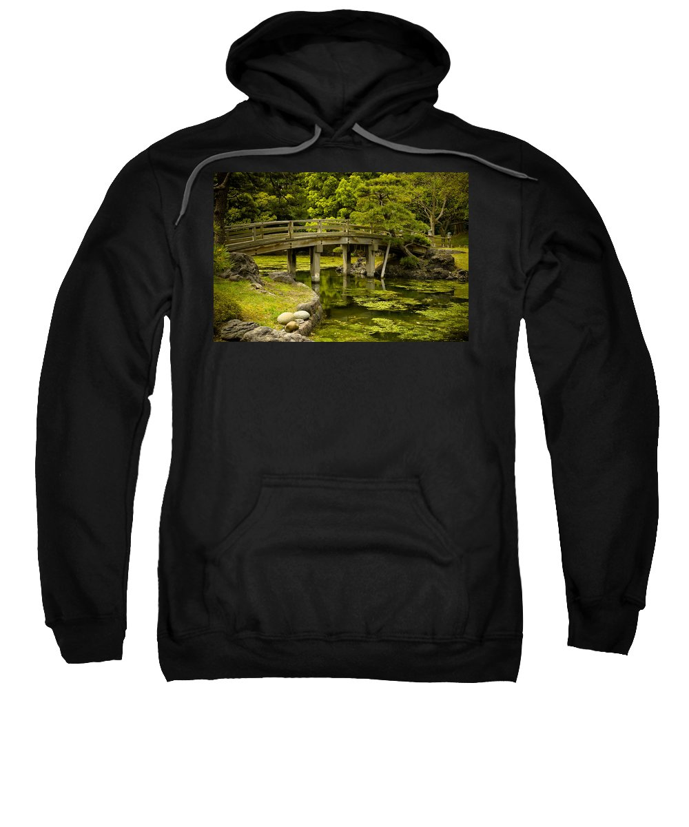Japan Sweatshirt featuring the photograph Japanese Garden Tokyo by Sebastian Musial