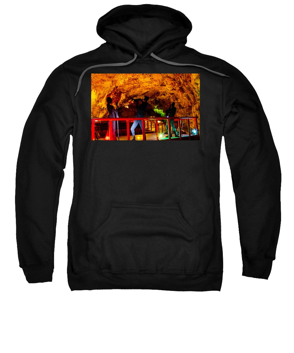 Grand Caverns Sweatshirt featuring the photograph Jazz On The Caverns by Angus Hooper Iii