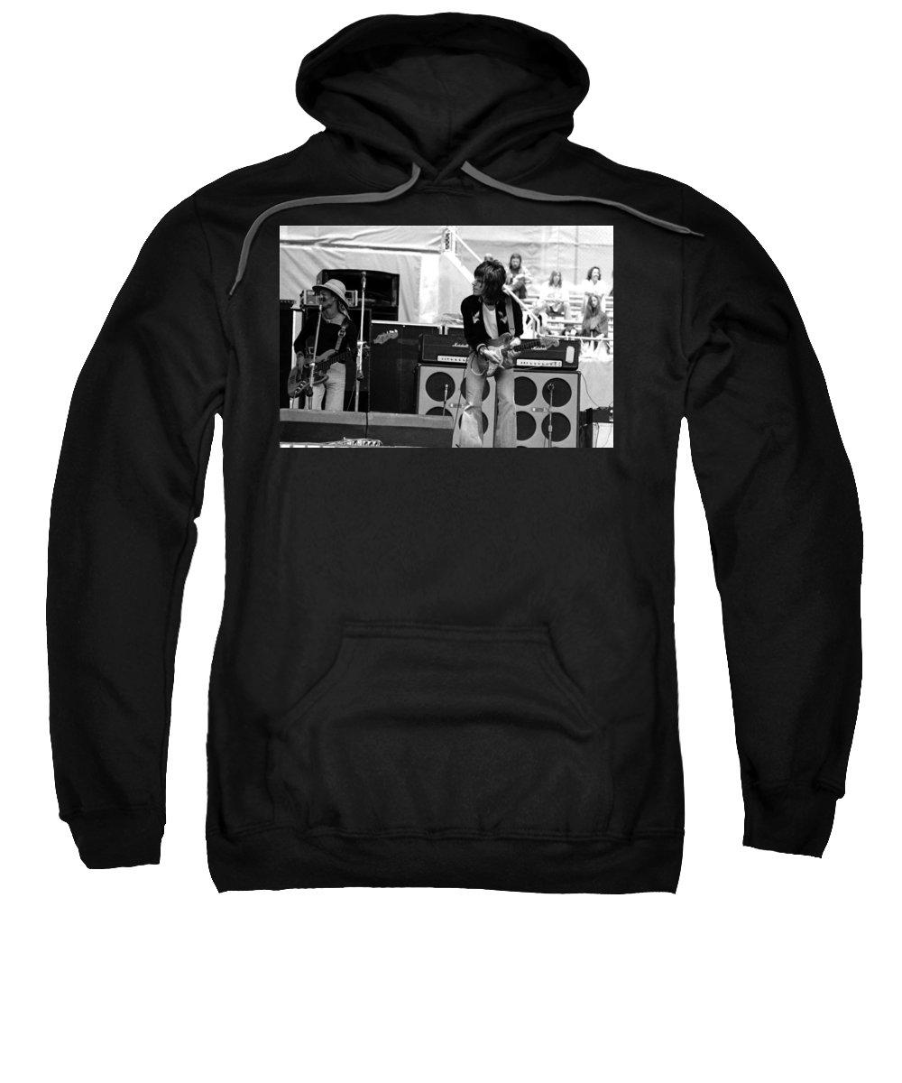 Jeff Beck Sweatshirt featuring the photograph Jb #14 by Ben Upham