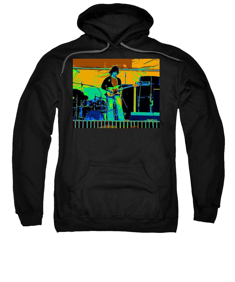 Jeff Beck Sweatshirt featuring the photograph Jb #15 Enhanced In Cosmicolors by Ben Upham
