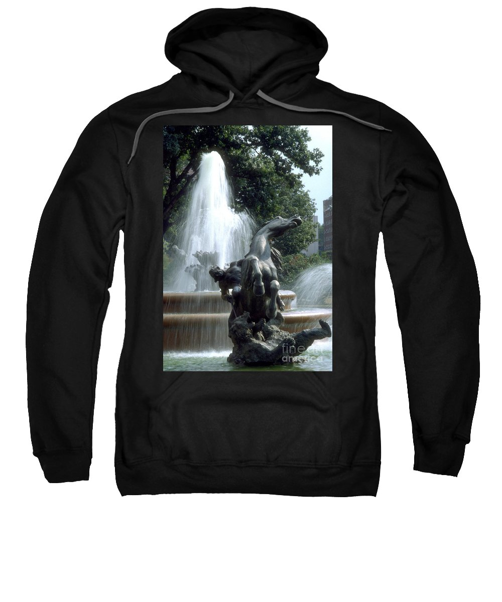 Fountain Sweatshirt featuring the photograph J.c.nichols Fountain 1 Kc.mo by Gary Gingrich Galleries