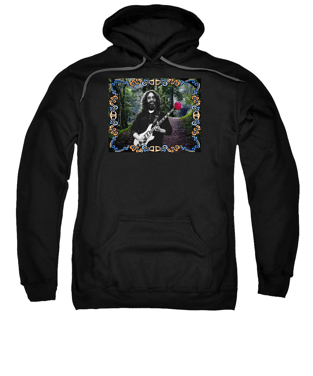 Jerry Garcia Sweatshirt featuring the photograph Jerry Road Rose 1 by Ben Upham