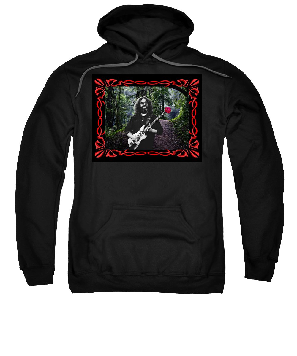 Jerry Garcia Sweatshirt featuring the photograph Jerry Road Rose 2 by Ben Upham