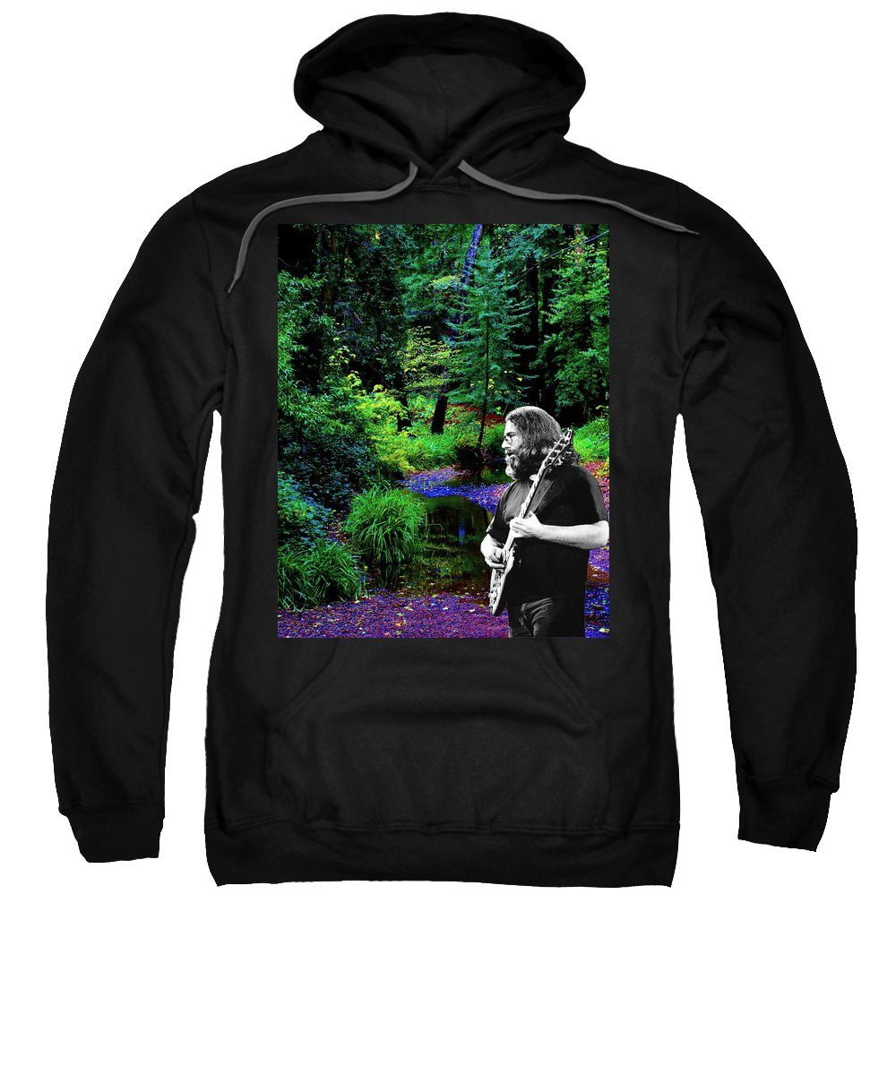 Jerry Garcia Photographs Sweatshirt featuring the photograph Jerry's Sunshine Daydream 2 by Ben Upham