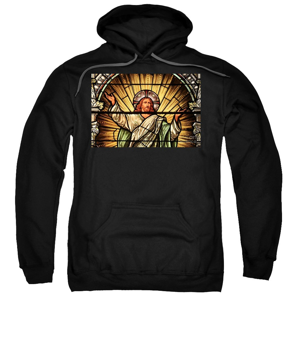 Jesus Sweatshirt featuring the photograph Jesus - The Light Of The Wold by Adam Jewell
