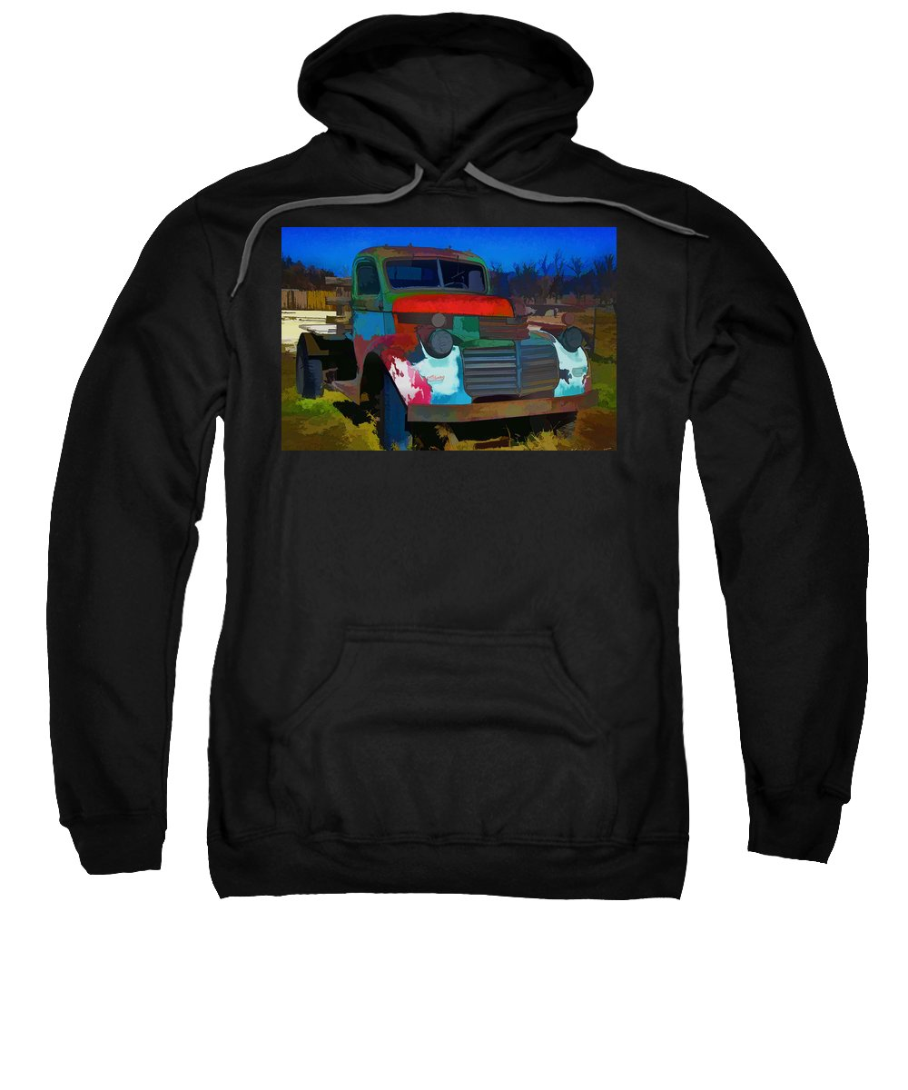 Gmc Sweatshirt featuring the photograph Jimmy In Taos - Abstract by Charles Muhle
