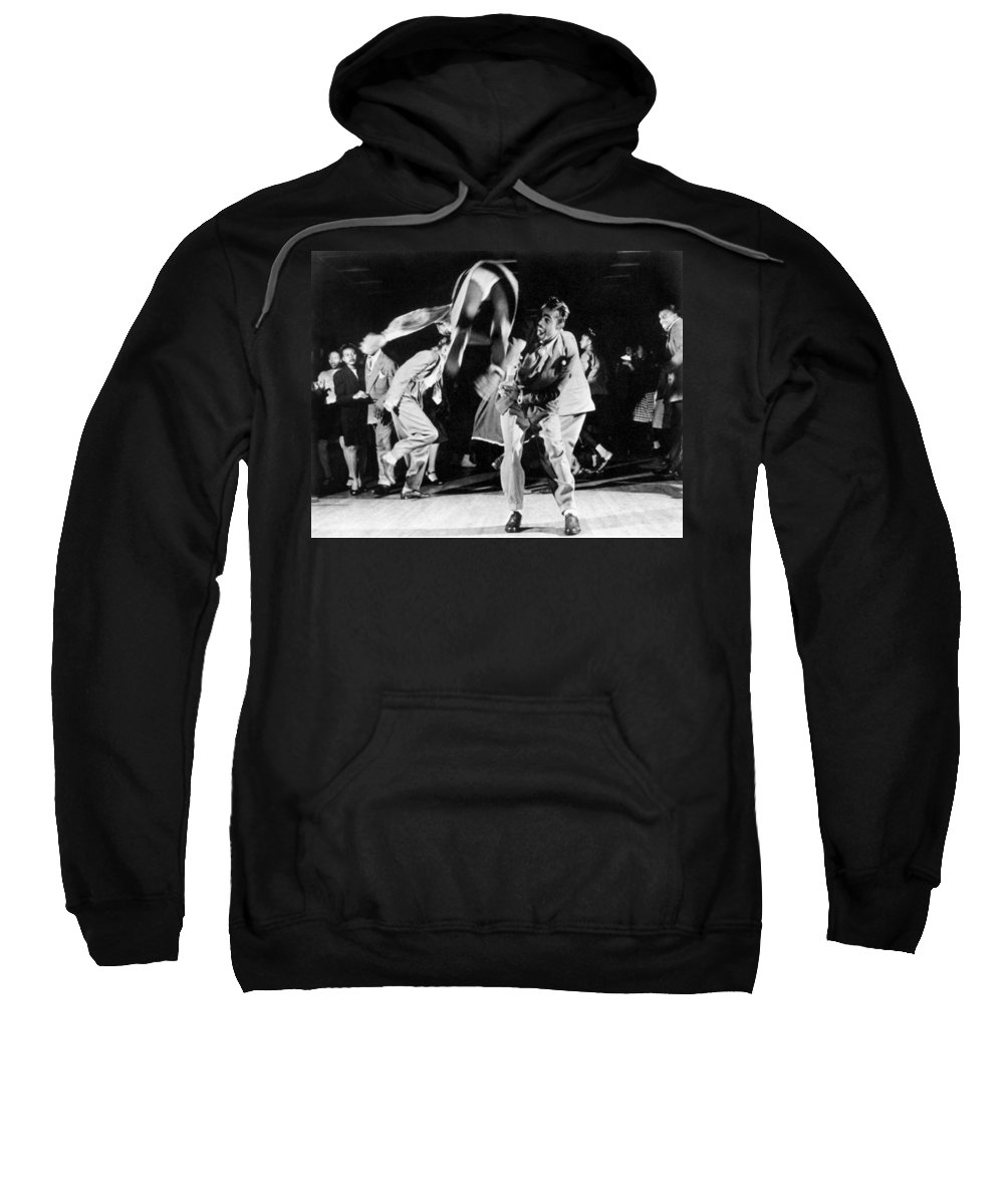 1939 Sweatshirt featuring the photograph Jitterbuggers, C1939 by Granger