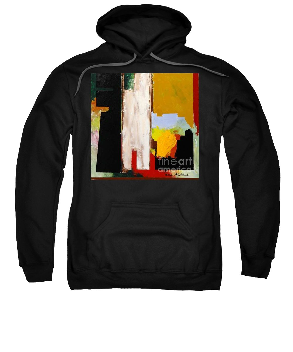 Landscape Sweatshirt featuring the painting Jordan Park 511 by Allan P Friedlander