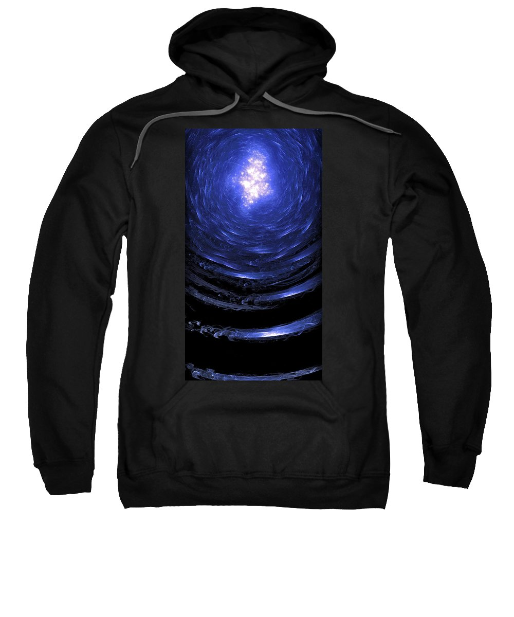 Journey Sweatshirt featuring the digital art Journey Back To The Surface by Brian Kenney