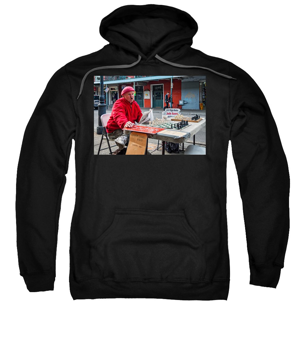Chess Sweatshirt featuring the photograph Jude The Master by Steve Harrington