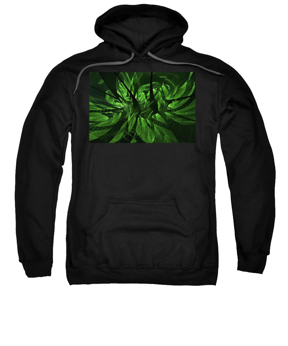 Helicopter Wash Sweatshirt featuring the digital art Jungle Clearing by Doug Morgan