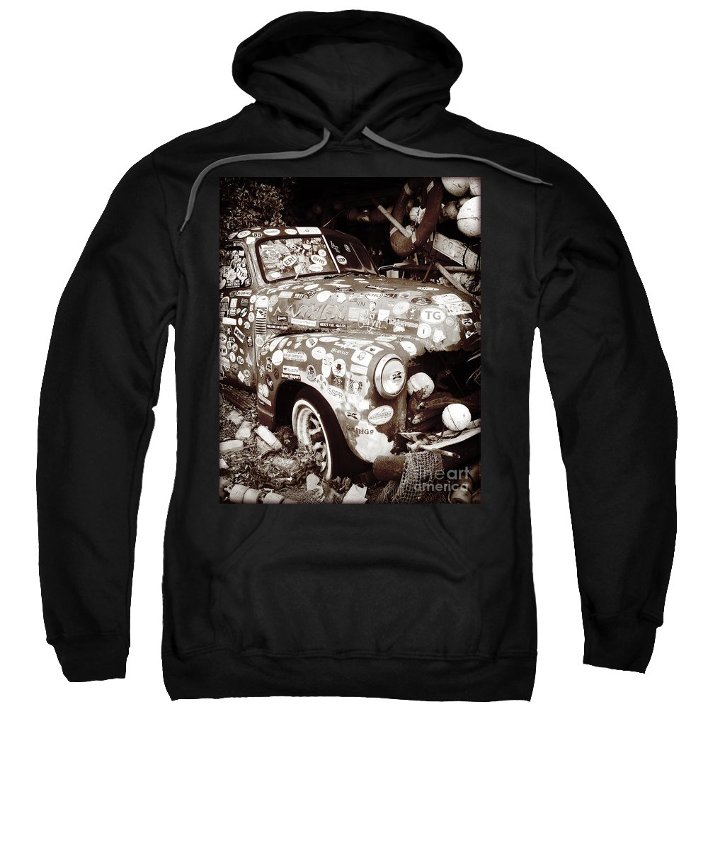 Florida Sweatshirt featuring the photograph Junk Truck I by Chris Andruskiewicz