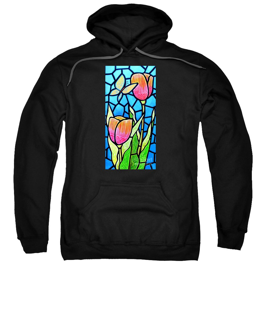 Butterflies Sweatshirt featuring the painting Just Visiting by Jim Harris